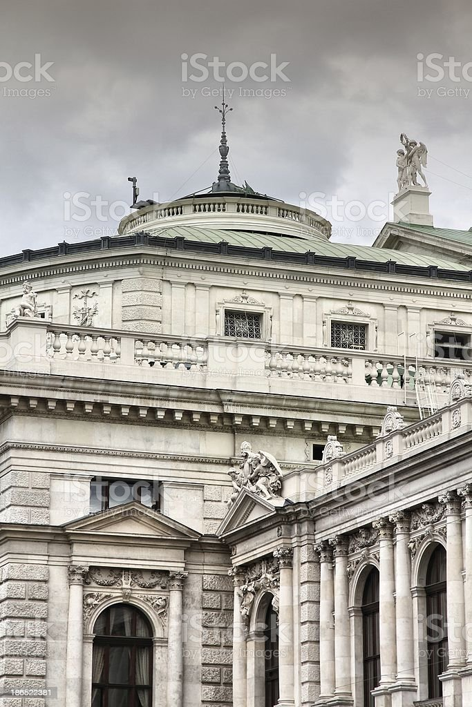 Vienna - Burgtheater royalty-free stock photo