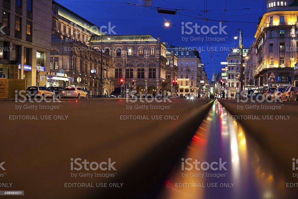 Vienna By Night, Urban Scene royalty-free stock photo