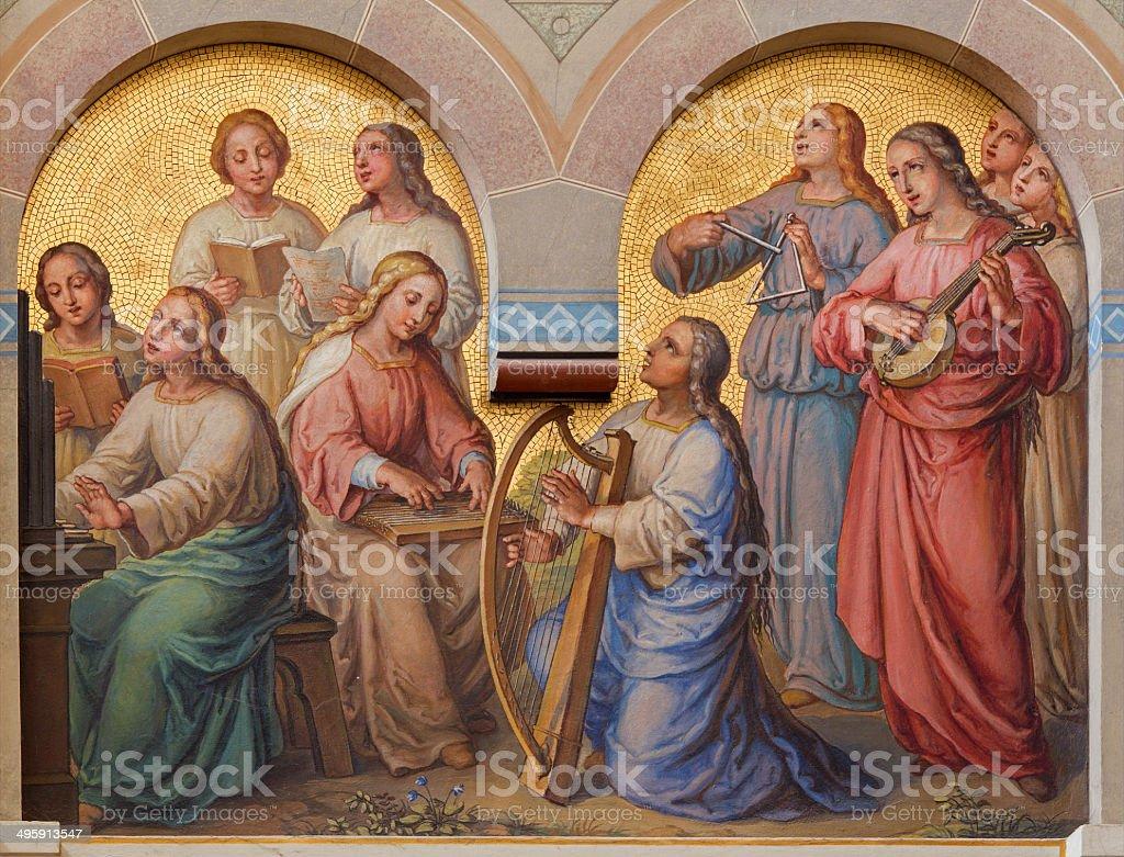 Vienna - Choir of holy women in Carmelites church stock photo