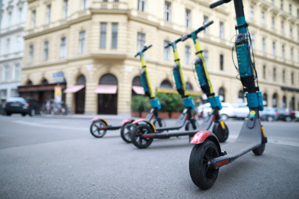 Vienna city Vienna,Austria-19 may 2019: Electric scooters for rent on street in centre Vienna. electro music stock pictures, royalty-free photos & images