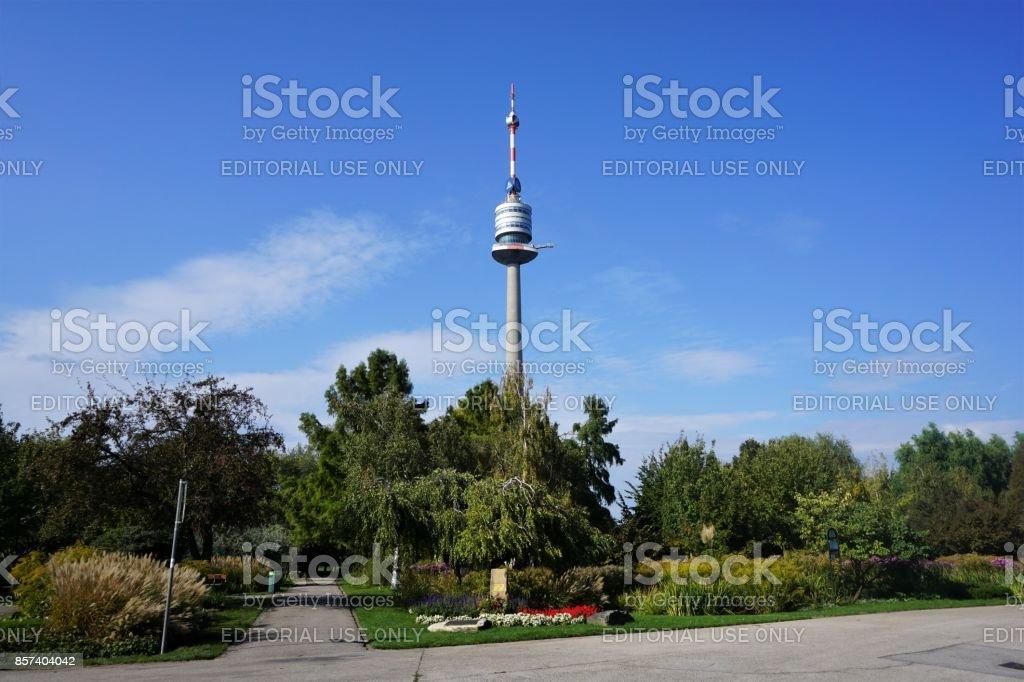VIenna - Danube tower stock photo