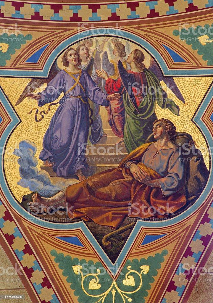 Vienna - Dream of Jacob in Altlerchenfelder church stock photo