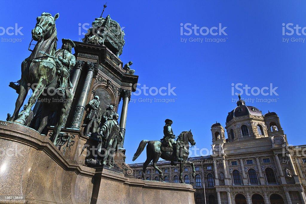 Vienna - Empress Maria Theresia Monument stock photo