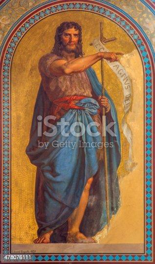istock Vienna - Fresco of  St. John the Baptist 478076111