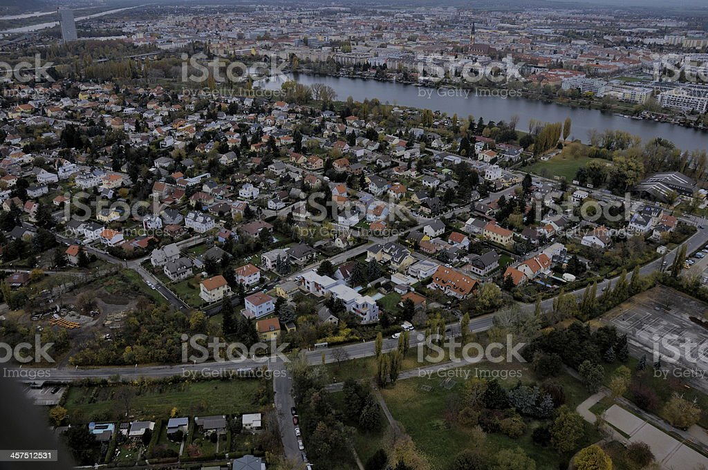 Vienna from Above stock photo