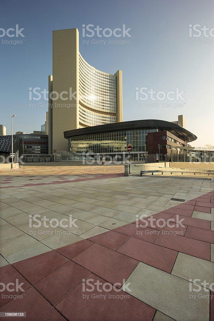Vienna International Center stock photo