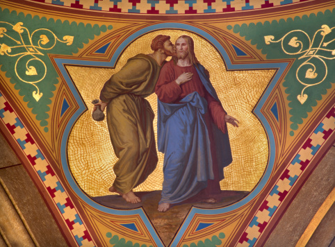 Vienna Judas Betray Jesus With The Kiss Stock Photo - Download Image Now