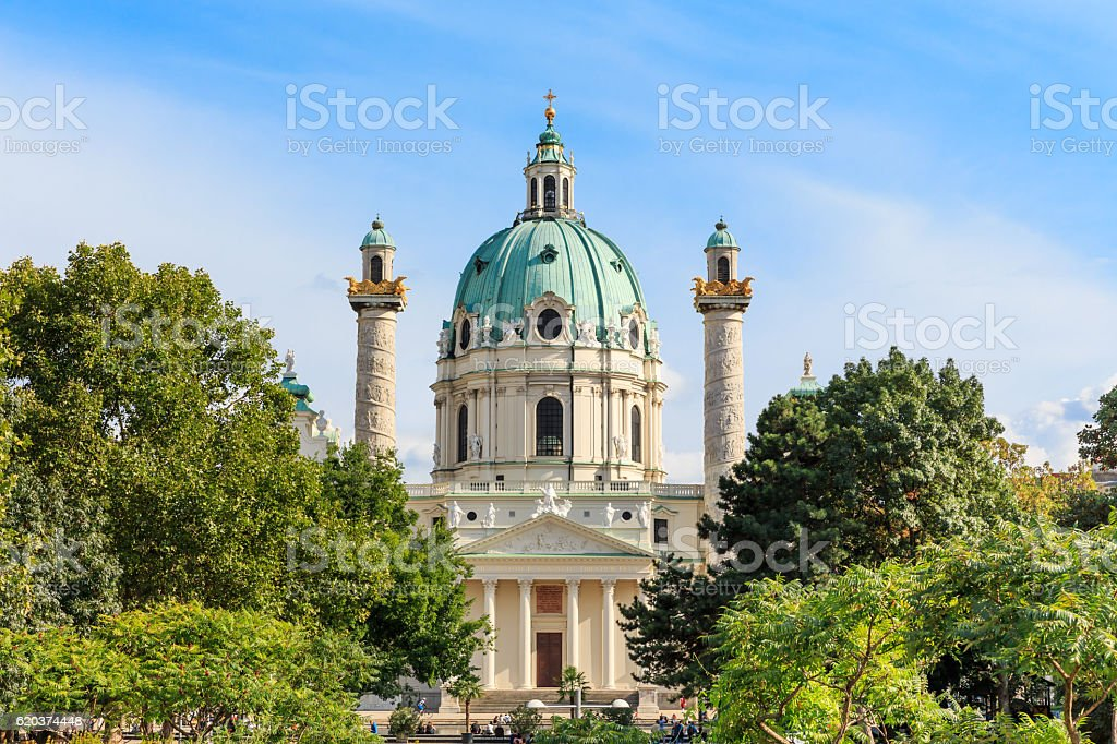 Vienna. Karlskirche church foto de stock royalty-free