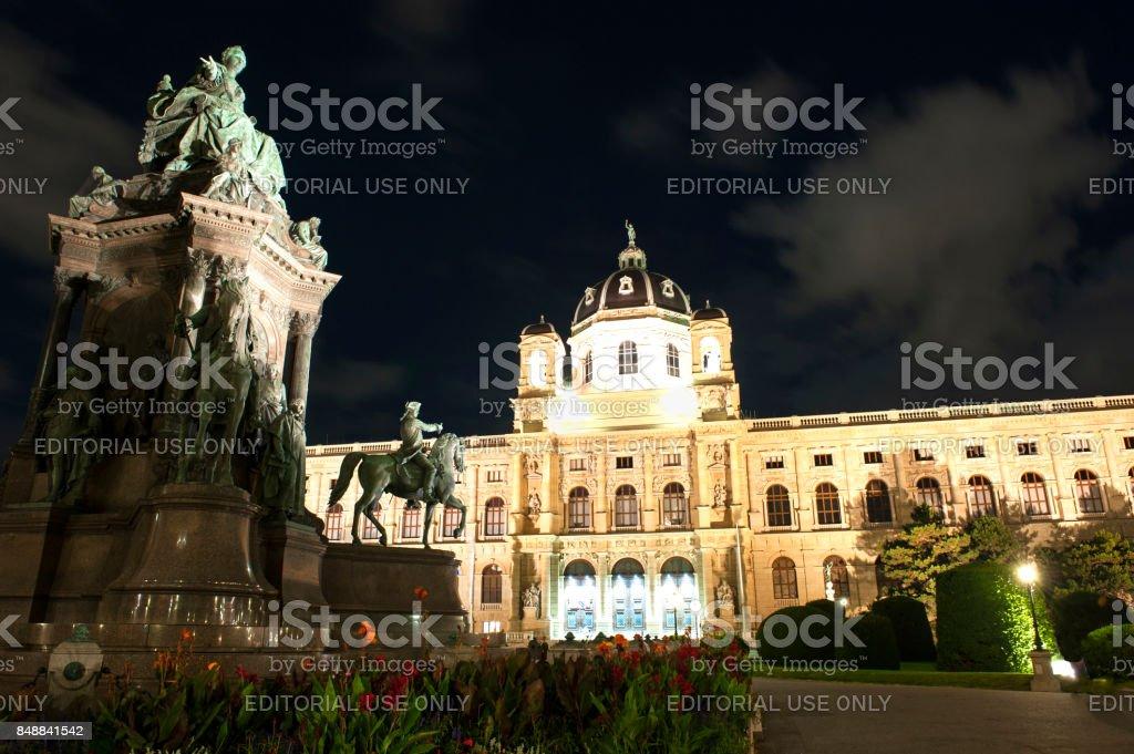 Vienna Kunsthistorisches Museum stock photo