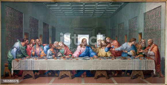 istock Vienna - Mosaic of Last supper by Giacomo Raffaelli 160585076