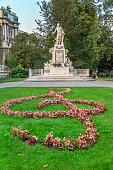 Vienna, Mozart Statue (Austria)