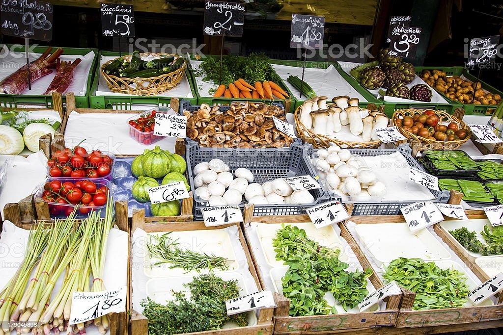 Vienna Naschmarkt food market royalty-free stock photo