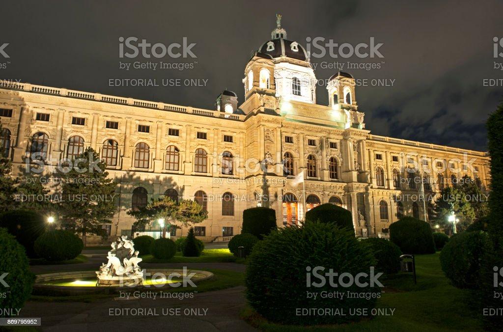 Vienna Naturhistorisches Museum stock photo