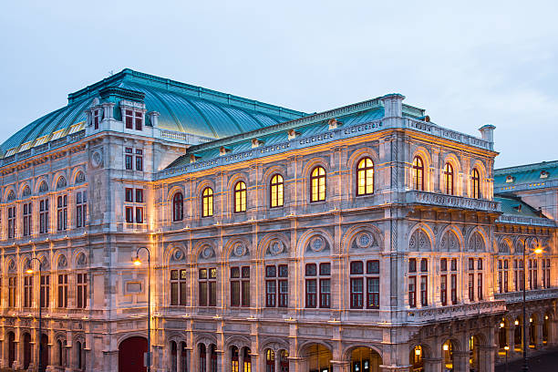 vienna opera ball house - opernball stock-fotos und bilder