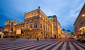 The Opera House in Vienna in the evening