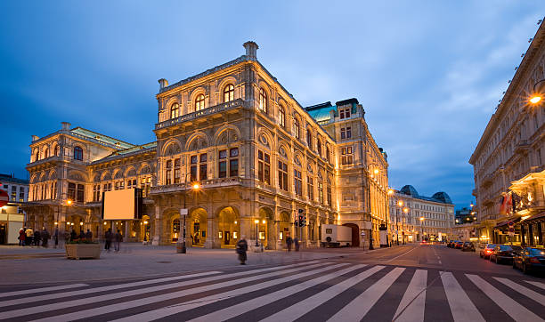 vienna opera house - vienna stock photos and pictures
