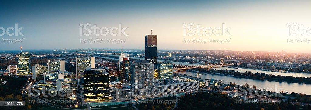 Vienna Panorama stock photo