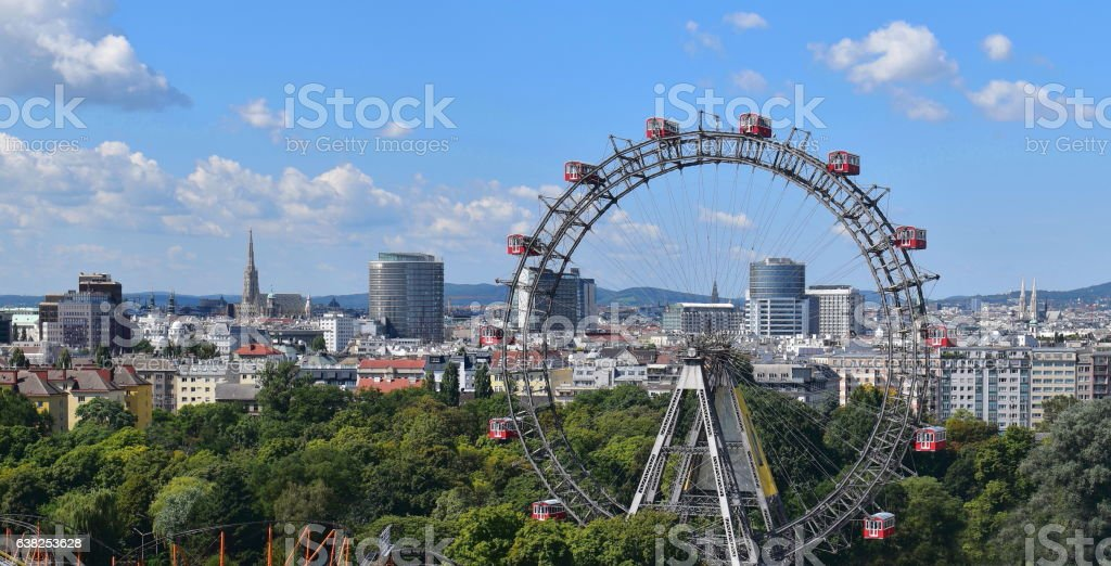 Vienna panorama stock photo