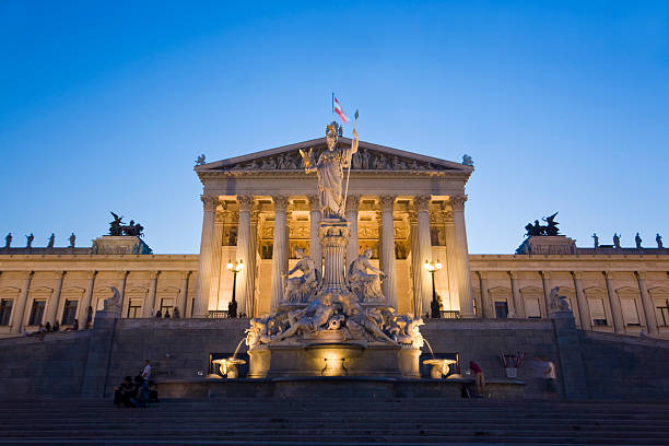 vienna parliament - yt stock pictures, royalty-free photos & images