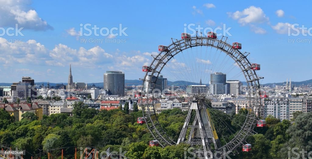 Vienna postcard stock photo