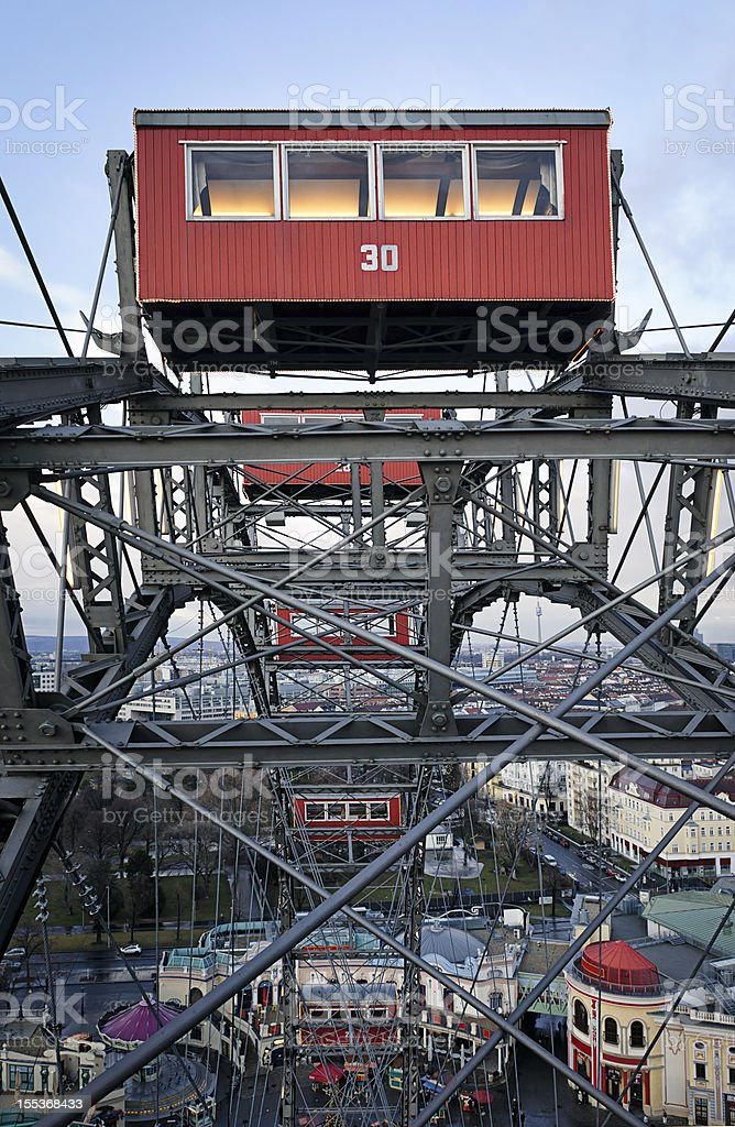 Vienna Riesenrad (Giant Ferris Wheel) at Prater stock photo