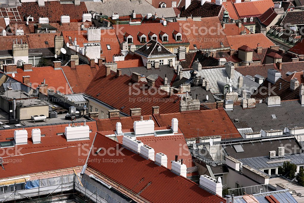 Vienna roofs royalty-free stock photo
