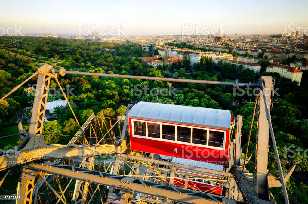 Vienna seen from the prater Ferris Wheel stock photo