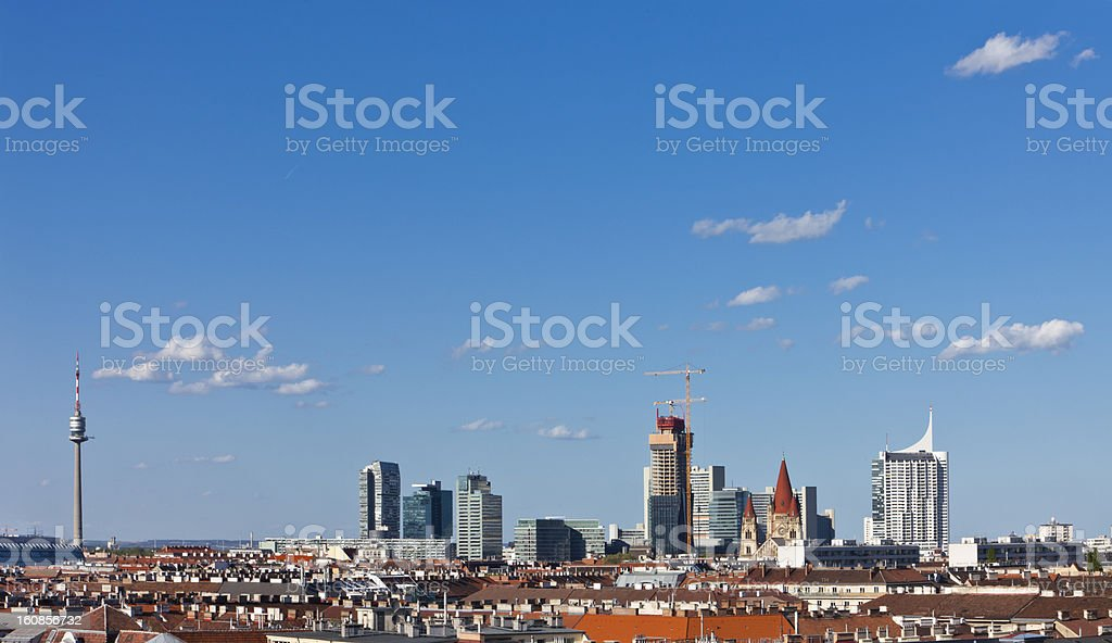 Vienna Skyline royalty-free stock photo