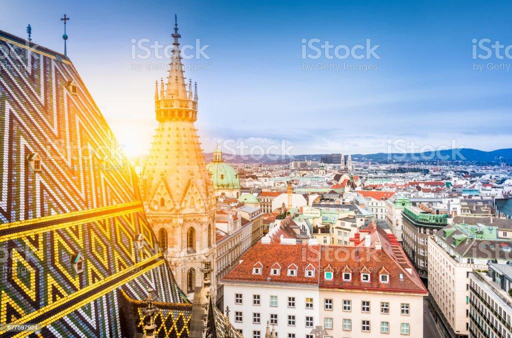 Skyline von Wien mit St.. Stephans Kathedrale auf dem Dach, Österreich – Foto