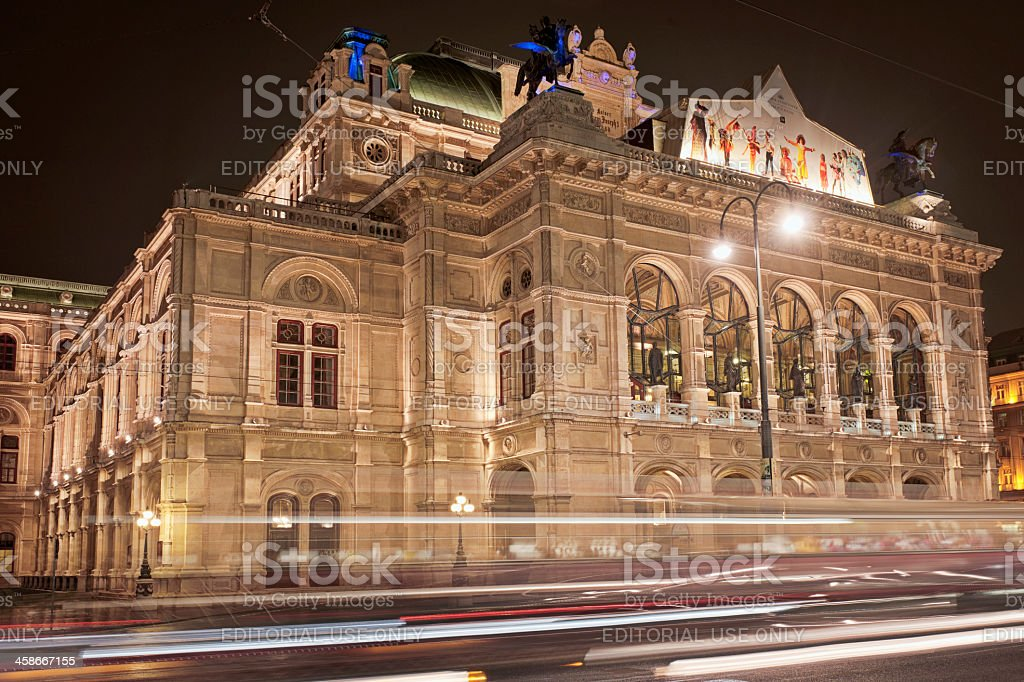 Vienna Staatsoper (State Opera House) stock photo