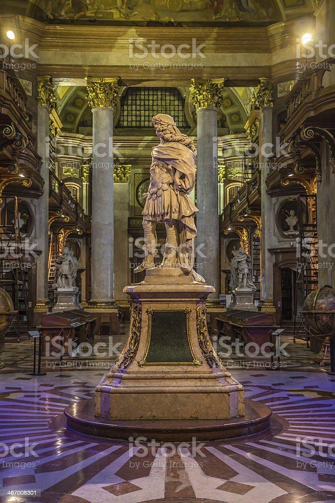 Vienna State Library interior stock photo