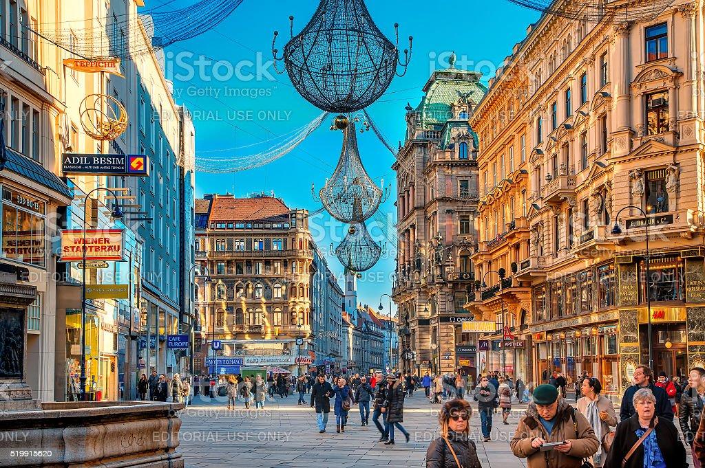 Vienna street stock photo