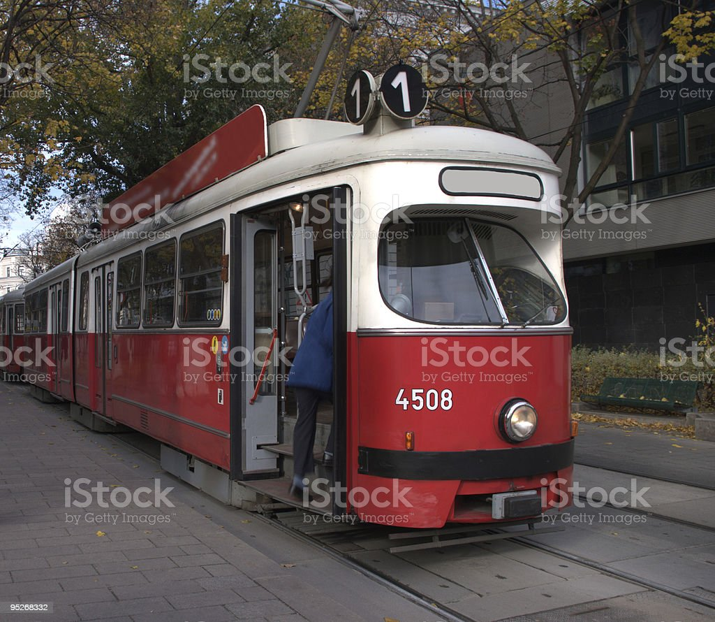 Vienna Streetcar - Royalty-free Articulated Vehicle Stock Photo