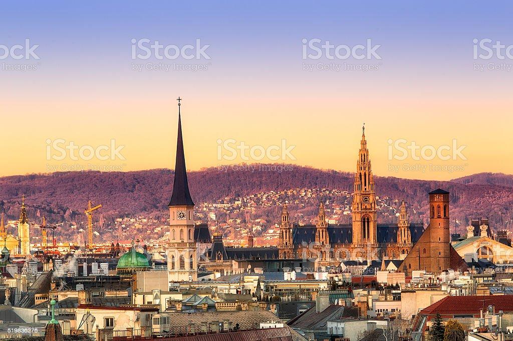 Vienna sunrise royalty-free stock photo