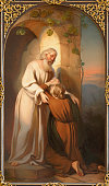 Vienna - The painting of scene comeback of Prodigal son in church kirche St. Laurenz (Schottenfelder Kirche) by Carl Johann Nepomuk Hemerlein (1807 - 1884).