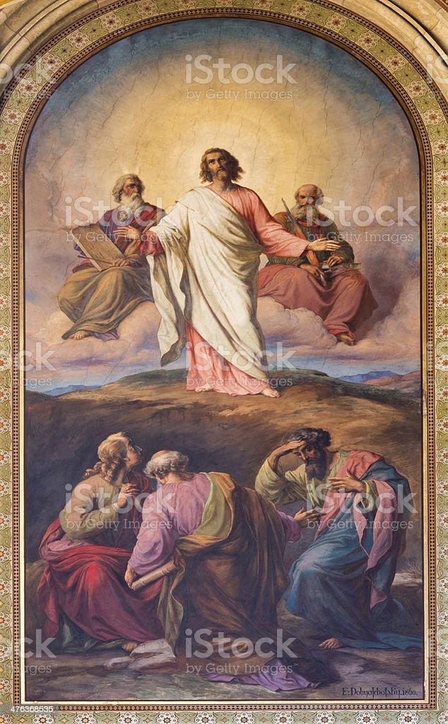 Vienna - Transfiguration of Jesus on the mount Tabor stock photo