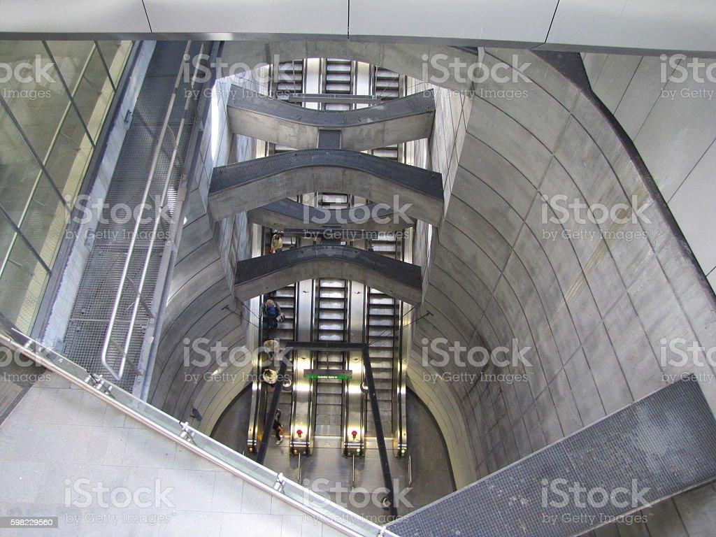 Vienna undergound railway elevators foto royalty-free