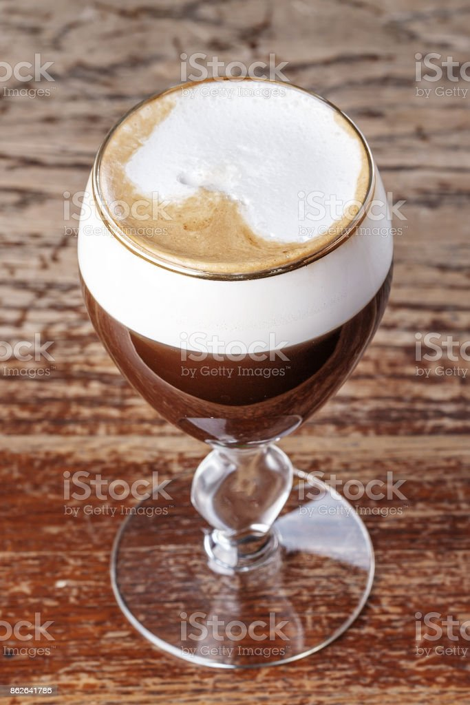 Viennese coffee on the bar stock photo