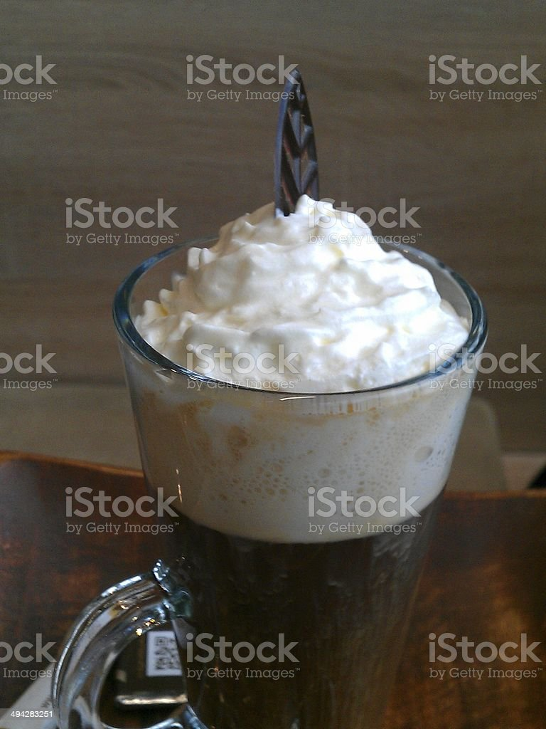 Viennese coffee with cream royalty-free stock photo