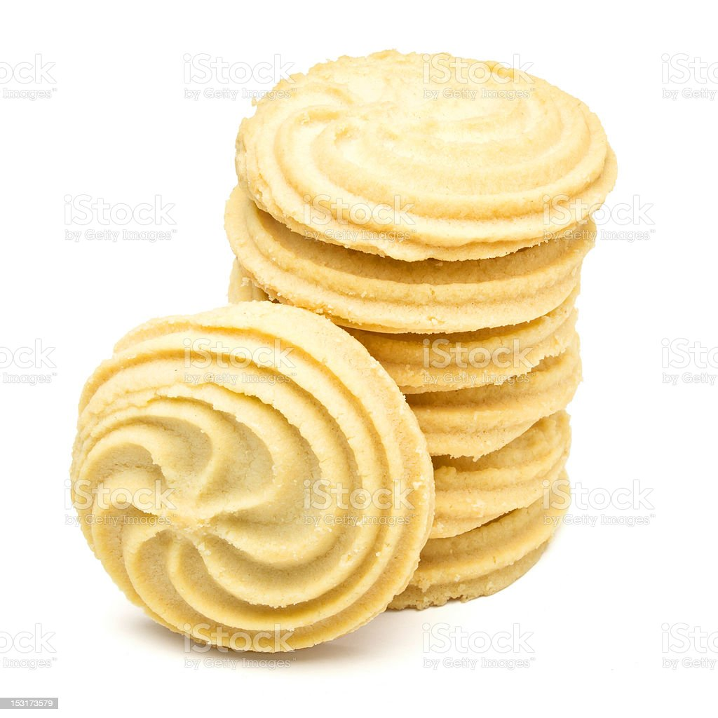 Viennese Swirl Biscuits royalty-free stock photo