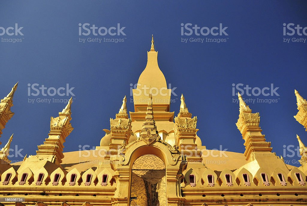 Vientiane, Laos: Pha That Luang stupa stock photo