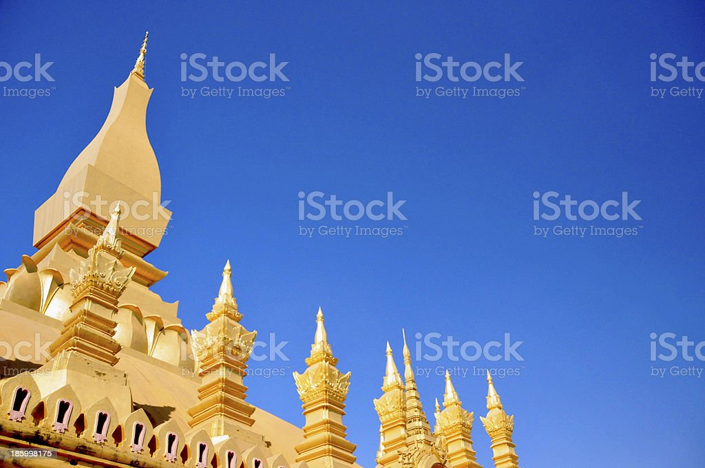 Vientiane, Laos: top of Pha That Luang stupa royalty-free stock photo