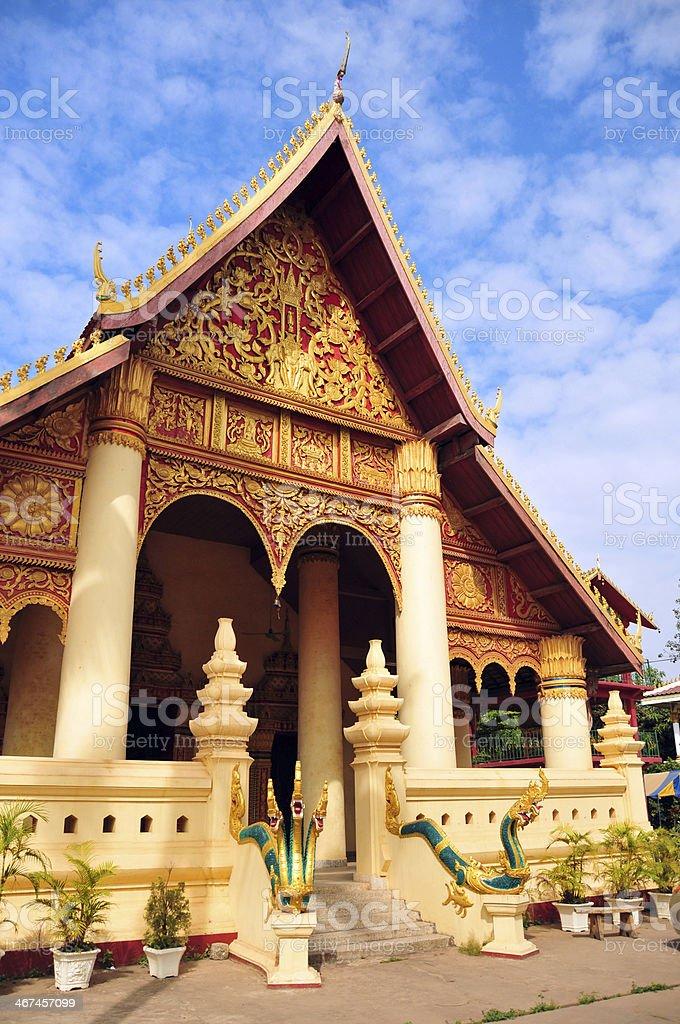Vientiane, Laos: Wat Chan temple royalty-free stock photo