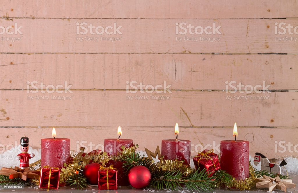 Vierter Advent stock photo