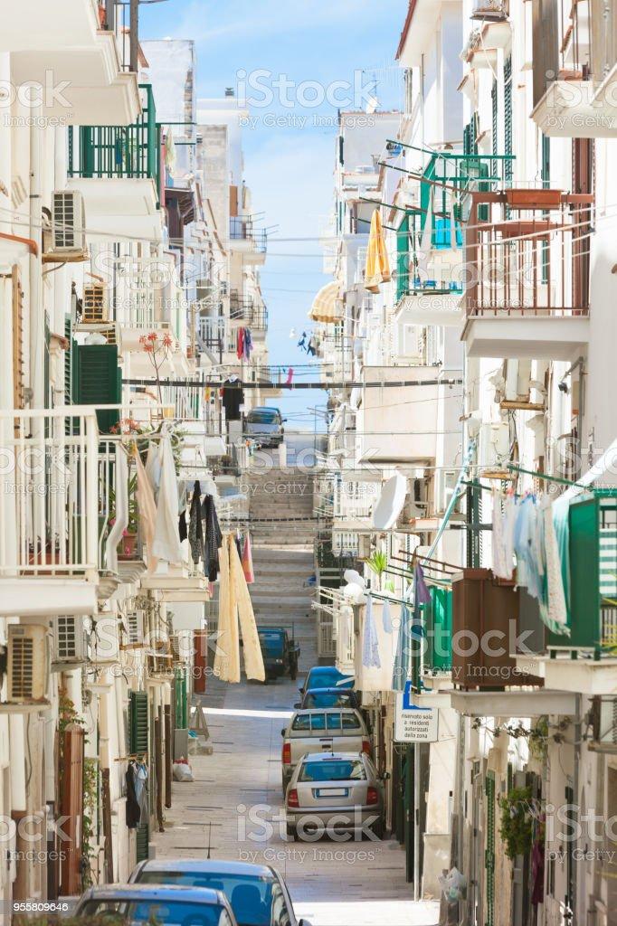 Vieste, Apulien - In den Straßen des historischen Stadtzentrums – Foto