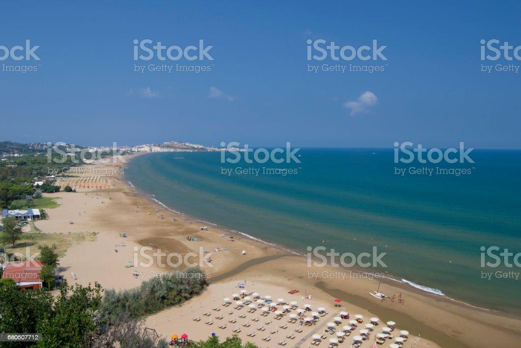 Vieste shores stock photo