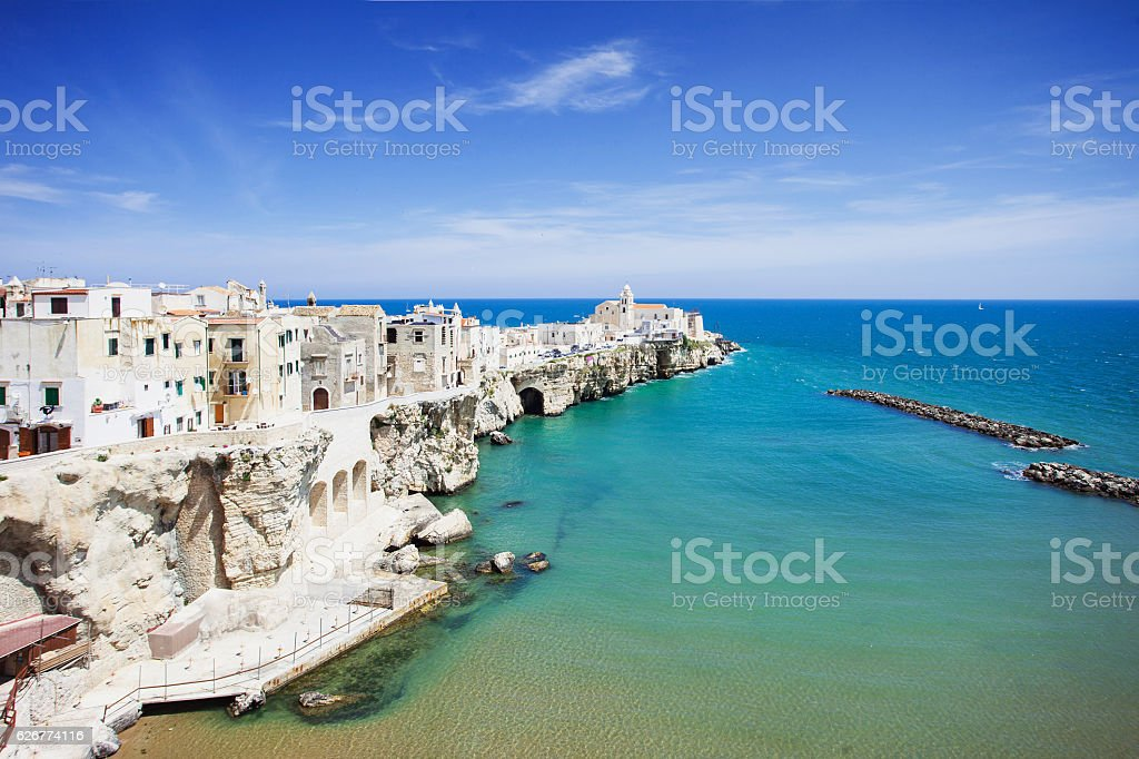 Vieste town, Puglia, Italy stock photo