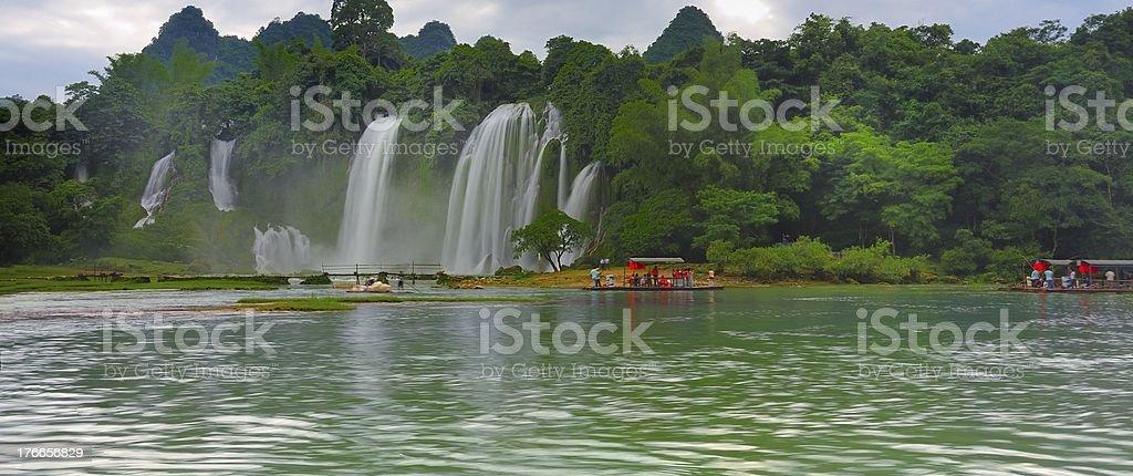 Vietnam prohibición Gioc (Banyue) en cascada foto de stock libre de derechos