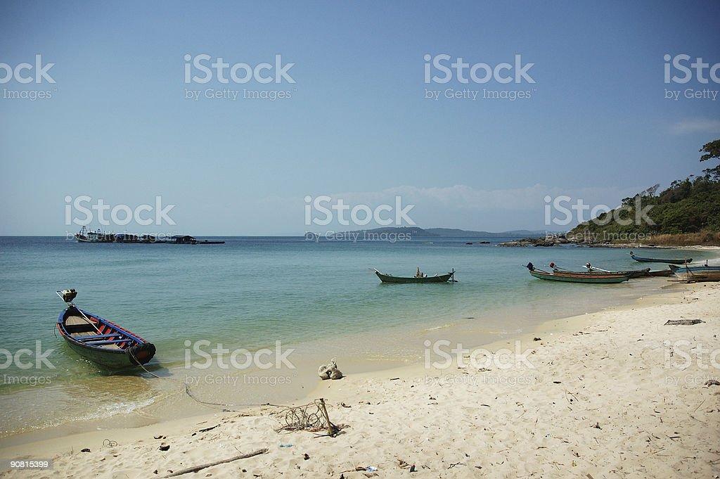 vietnam boats royalty-free stock photo
