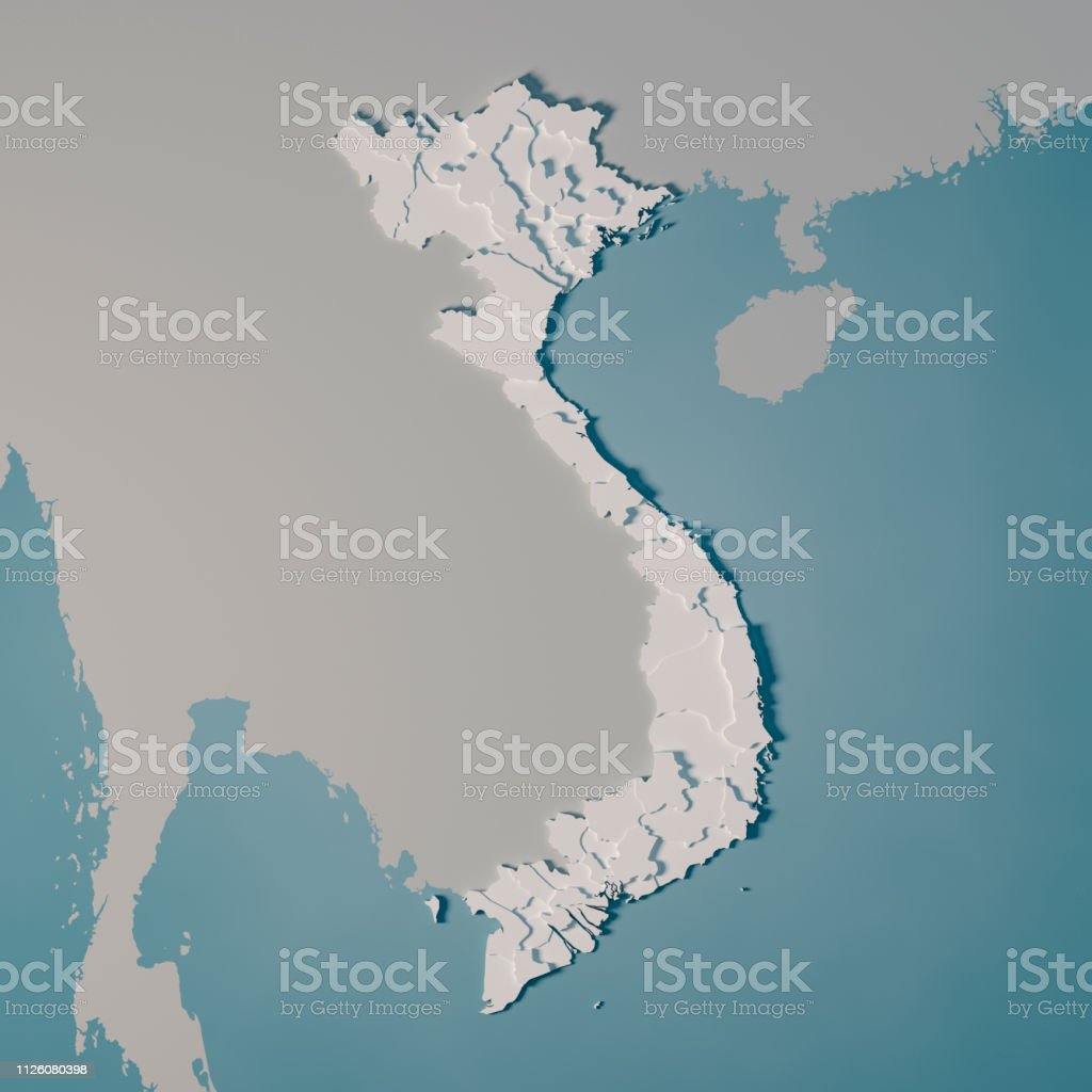 Vietnam Country Map Administrative Divisions 3d Render Stock Photo Download Image Now Istock